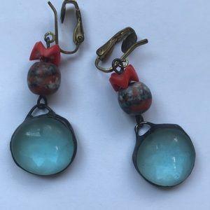 Unique vintage clip-on earrings.